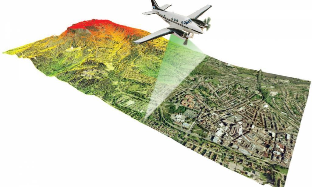Rilievi aerei per topografia con laser scanner LIDAR